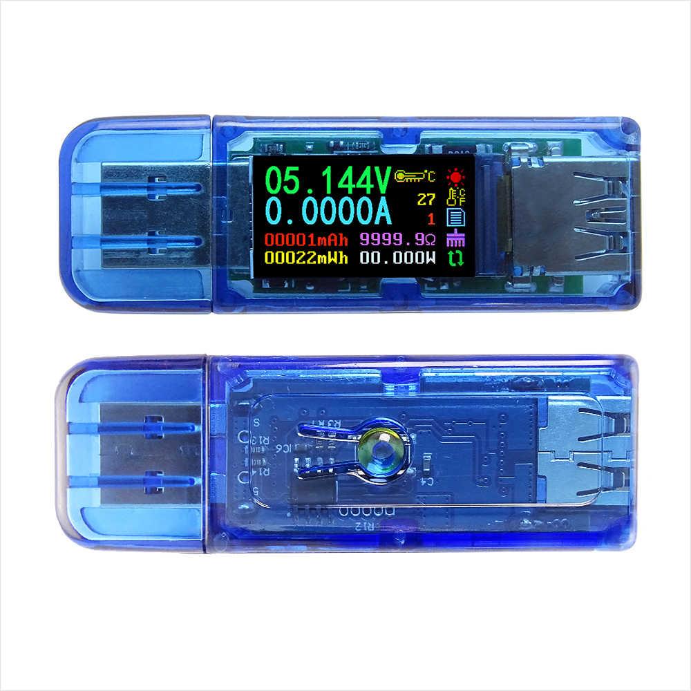 RD AT35 AT34 5 หลัก USB 3.0 สี LCD โวลต์มิเตอร์แอมป์มิเตอร์แรงดันไฟฟ้ามัลติมิเตอร์แบตเตอรี่ Power Bank USB tester