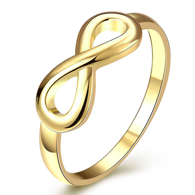 Pas cher Femmes Bagues Or Couleur Bagues De Fiançailles De Mariage pour la  Partie Infinity Signe