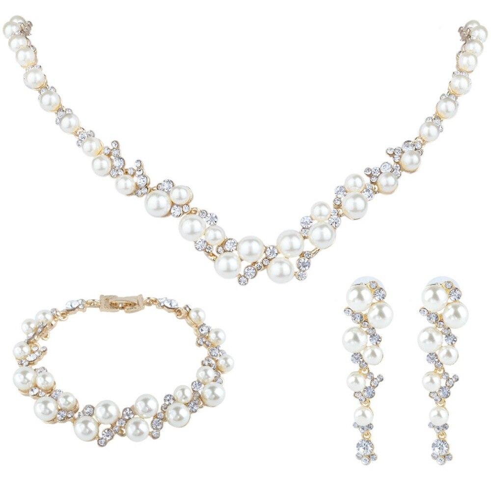 Bella Fashion Elegant Bridal Jewelry Set Austrian Crystal
