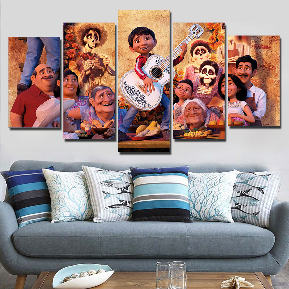 Canvas Paintings Framework For Living Room Wall Art 5