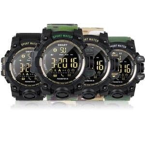 Image 2 - EX16S Smart Watch Camouflage Camo Sport Watch Men Running Step Passometer Sleep Monitor Call Reminder Stopwatch Waterproof Watch