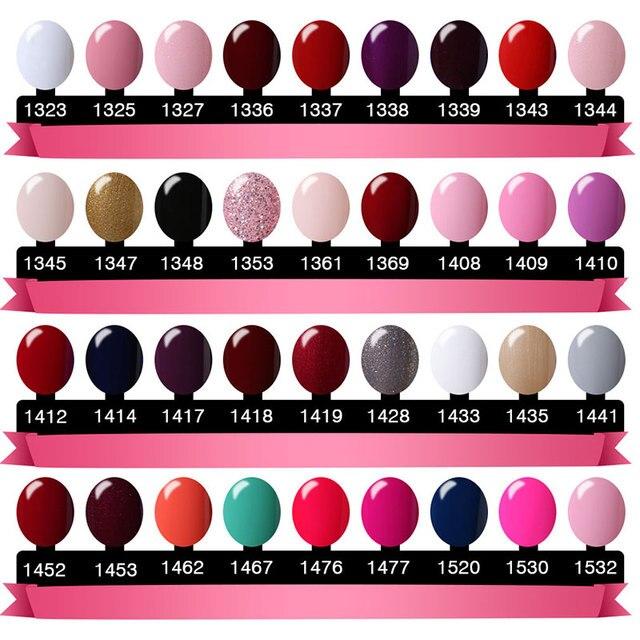 Elite99 Nagel Gel Polnisch UV LED Candy Farbe 58 Farben 7 ml Lang anhaltende Tränken Weg Lack Basis Top Mantel nagellack