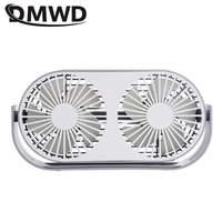 DMWD Mini USB Dual Drehbare Fan mit Aroma Tragbare Haltegriff Fan 3-Speed gänge Einstellbare Aromatherapie Maschine Handlich Desktop