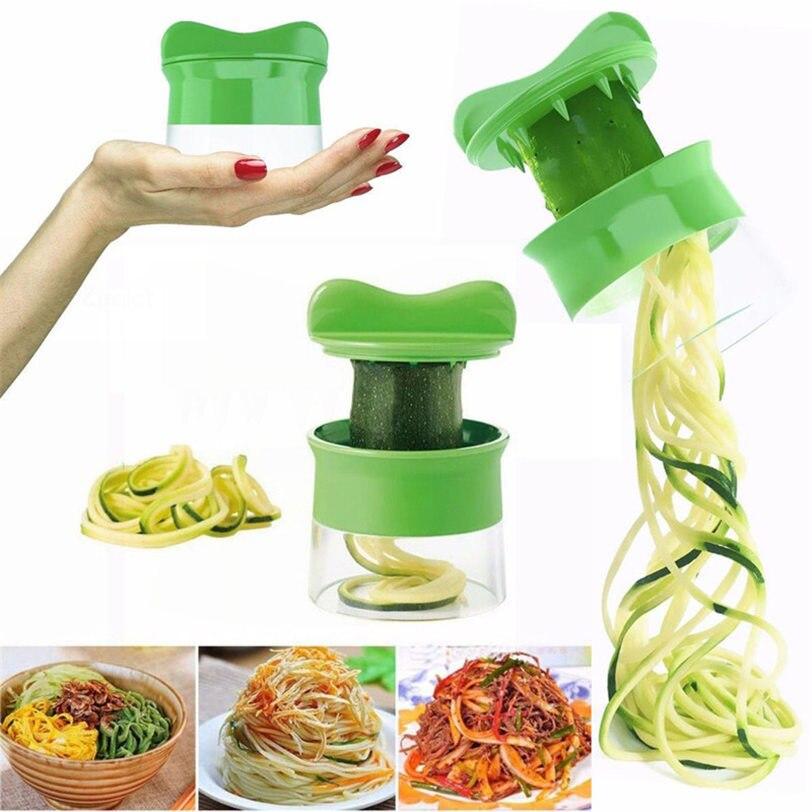 Hot Sales Spiral Vegetable Fruit Slicer Cutter Grater Shreder Twister Peeler Kitchen Gadgets Tools #3D14
