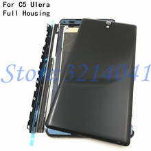 New Middle Front Frame Bezel Housing LCD Screen Holder Repair Parts+Metal side bar For Sony Xperia C5 Ulera E5553 E5506