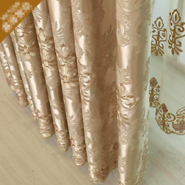 Custom Curtain European Style Luxury Hollow Embroidered Curtains Living  Room Curtain Gold Color Cloth Blackout Curtain E729 In Curtains From Home U0026  Garden ...