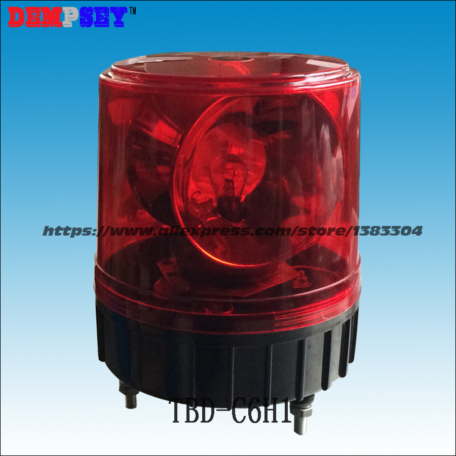 TBD-C6H1 fire&Police/ Car rotator 23W light,Halogen Revolving Beacon , DC12/24V, Red warning light, 12v revolving warning light for vehicles red