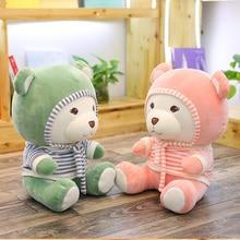 где купить 30/40cm Soft Teddy Bear Plush Toy Stuffed Animal Bear With Hat & Scarf Placating Toy For Children Drop Shipping Available по лучшей цене