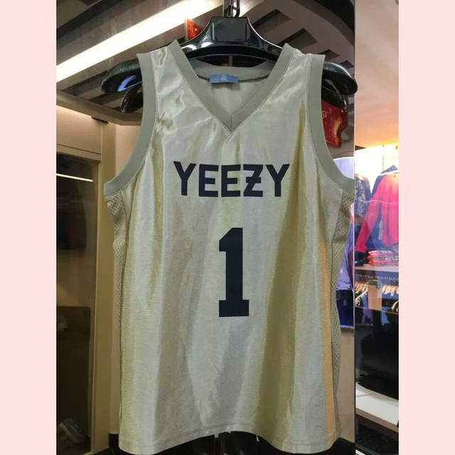 2016 Kanye West yeezy hiphop jersey 1 Merchandising mens camo chaleco Streetwear hip hop tank top men Y996