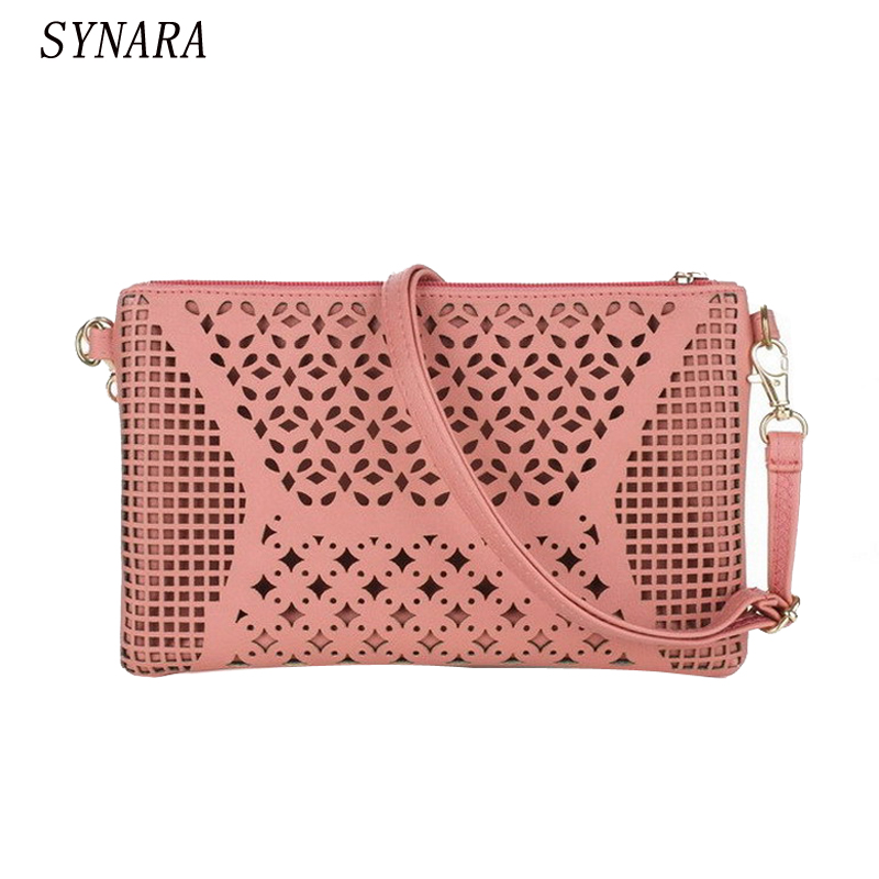 Vintage Hollow Out Flower Envelope Bag Small Women Leather Crossbody bag Shoulder bag Messenger bag Clutch Handbag Purses women day clutch genuine leather envelope bag banquet women handbag vintage cowlayer messenger bag
