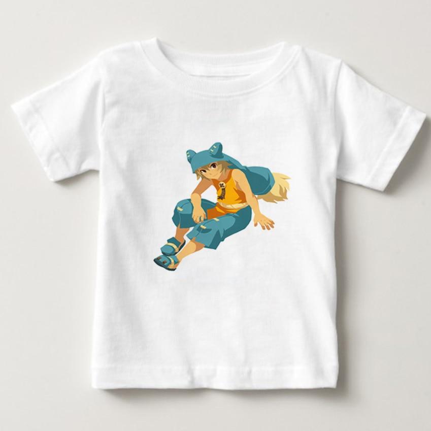 Children wakfu game Funny T shirt Kids Cartoon T-shirt Baby/Girls/Boys Casual Summer Tops Clothes Short Sleeve tee camiseta NN
