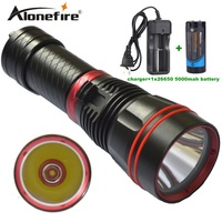Alonefire DX1S 1SET Diver Flashlight LED Torch cree xm l2 constant current 26650 rechargeable batteries Underwater Diving Light