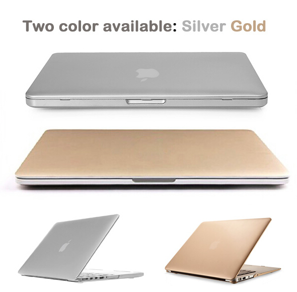watch 7fbe7 5e71b US $9.99 |Super Cool! The Latest Champagne Gold Silver Shimmering Metallic  See Thru Hard Case Cover for Macbook pro 13 retina pro 13-in Laptop Bags &  ...