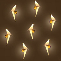 IWHD Creative Origami LED Wall Lamp Individuality Concise PP Bedside Light Fixtures Home Lighting Bar Cafe Indoor Room Lighting