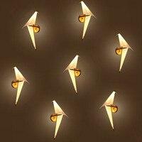Iwhd творческий оригами светодиодный настенный светильник индивидуальность краткий pp прикроватной тумбочке светильники домой Освещение ка