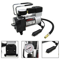 100PSI Super Flow DC 12V Metal Air Compressor Tyre Inflator Car Air Pump Vehicle Pump Electric