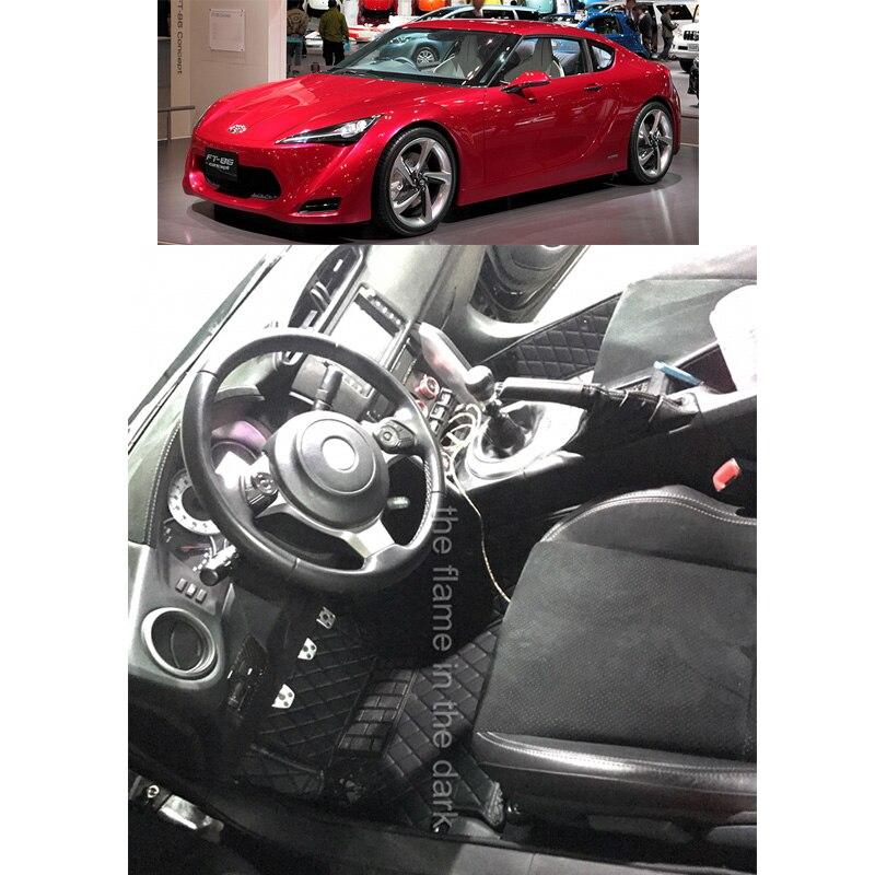 Lsrtw2017 fibre cuir tapis de sol de voiture pour toyota 86 subaru brz Toyota FT86 Toyota GT86 2012 2013 2014 2015 2016 2017 2018