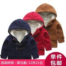 Wt-5212 2017 Корейской зимой пальто кнопки детские новые дети мужская дети с утолщенной кашемировые пальто