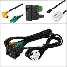 Adeeing USB 3.5mm AUX Switch Socket RCD510 RCD310+ RCD300+ MDF20/231 for VW Magotan Touran Sagitar Bora Car Electric Accessories