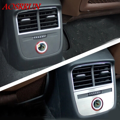 car-styling rear cigarette lighter panel decorative cover trim car interior accessories Stainless steel strip for Audi A3 stainless steel car interior dashboard side air conditioning outlet vents decorative cover trim strip for audi a3 8v 2013 16