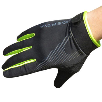 1 Pair Bike Bicycle Gloves Full Finger Touchscreen Men Women MTB Gloves Breathable Summer Mittens Lightweight Riding Glovs DO2 - Green, XL