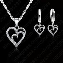 CIMIE New Arrival Fashion Sweet Romantic Style Sweet Heart Shape Pave Shiny Crystal Sparking For Woman Girls(China)