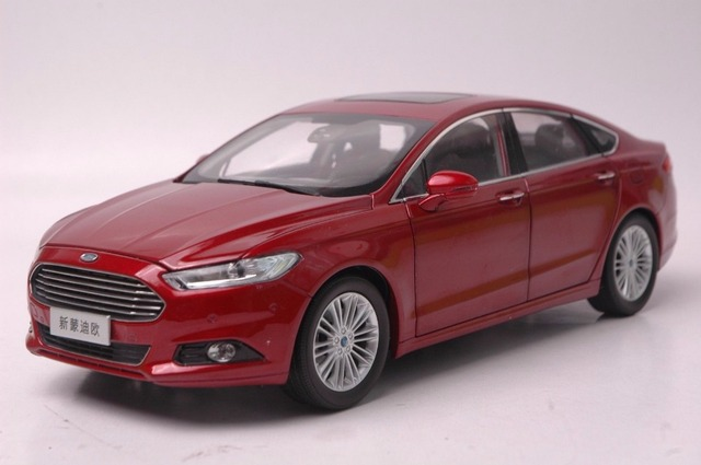 118 Diecast Model For Ford Mondeo Fusion 2013 Red SUV Alloy Toy Car Collection