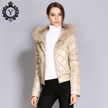 COUTUDI Ukraine Early Winter Down Coat Women Real Fur Parka Warm Khaki Short Female Outwear Jacket Hooded Coats Women's Clothing