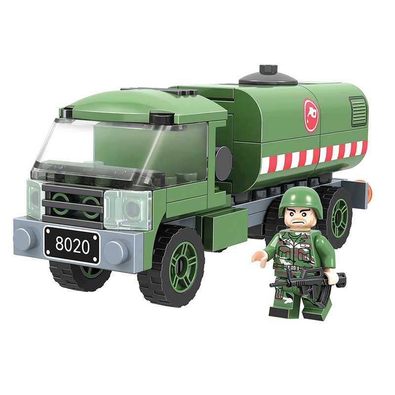 Winner 8020 Fuel tank car Army Military Soldiers Tank Guns Building Blocks Bricks Star War action figure toys for children