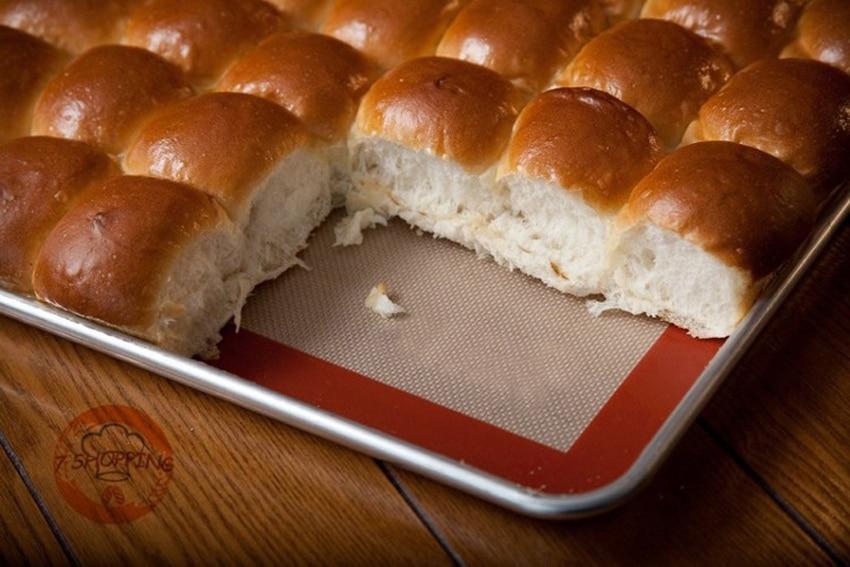 silicone baking mat non stick pastry work sheet 42x28cm half sheet size baking pan liner