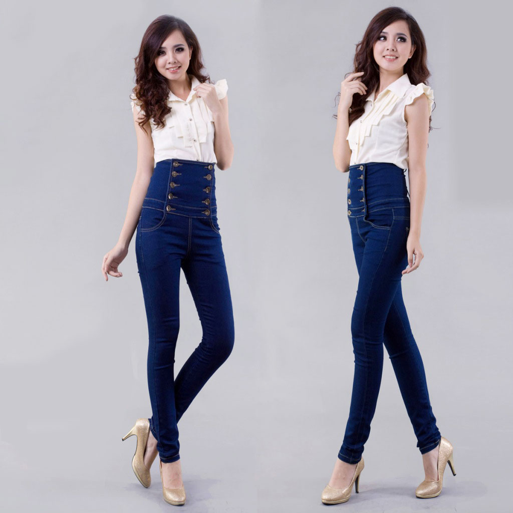 Ladies super high waisted jeans