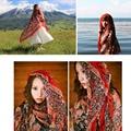 Spring and autumn bohemia folk style paisley fringed scarf shawl scarves large cotton yarn silk scarf shawl sunscreen scarves