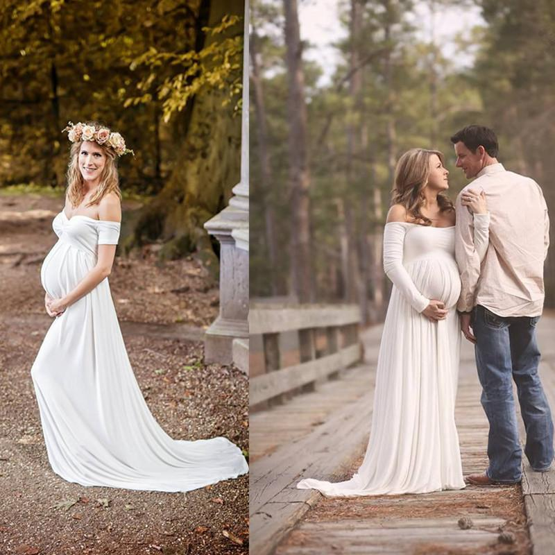 Us 127 49 15 Off 2019 New Wedding Dresses For Pregnant Women Simple Plus Size Backless Bridal Gowns Custom Made Dress In