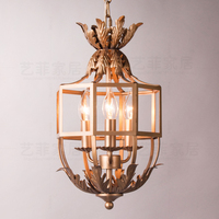 European retro do old style Acanthus leaf method pendant light bedroom aisle porch bedroom hanging lighting