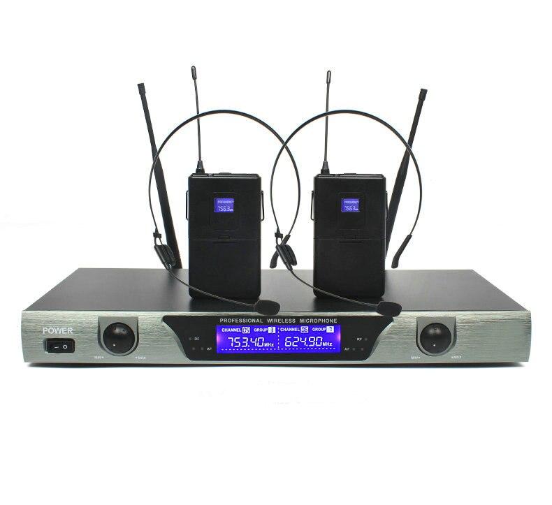 Top Professionnel Sans Fil Microphone Système avec Double Émetteur De  BZ18