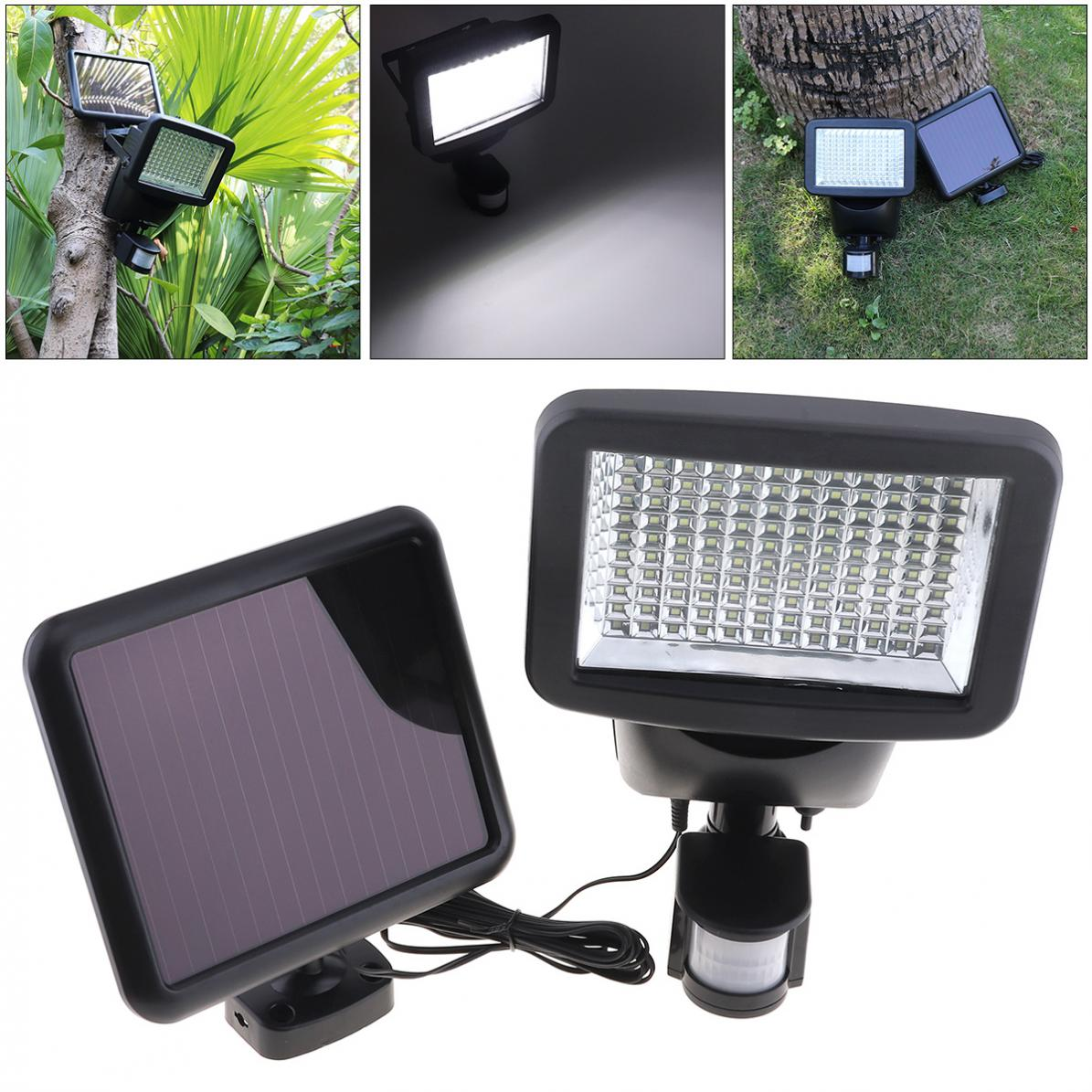 New Outdoor Waterproof 4W 120 LED PIR Motion Sensor Solar Power Panel Flood Security Garden Light with 3 Modes for Wall / Garden free shipping led flood outdoor floodlight 10w 20w 30w pir led flood light with motion sensor spotlight waterproof ac85 265v