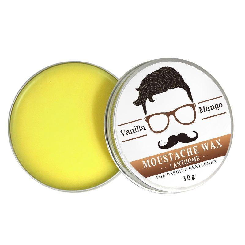 Natural Conditioning Softener Beeswax Moustache Wax 30g Beard Balm Beard Conditioner Leave in Styling Aftershave For Men 3