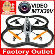 2015new arrival Hot sell RC TOYS X30V Large Scale 2.4G 6CH RC Quadcopter with HD Camera and Gyro for kids&adult as festival gift