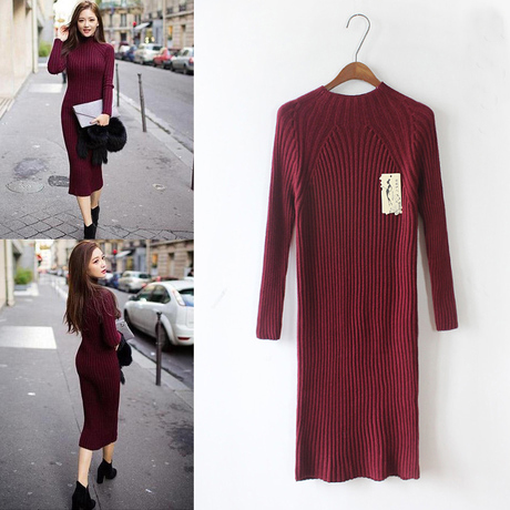 Maxi Turtleneck Sweater Dress