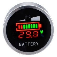 DC 6-120V Acid Lead Battery Indicator Lithium Battery Capacity Digital LED Tester Free Shipping with Track Number 12003143(China)