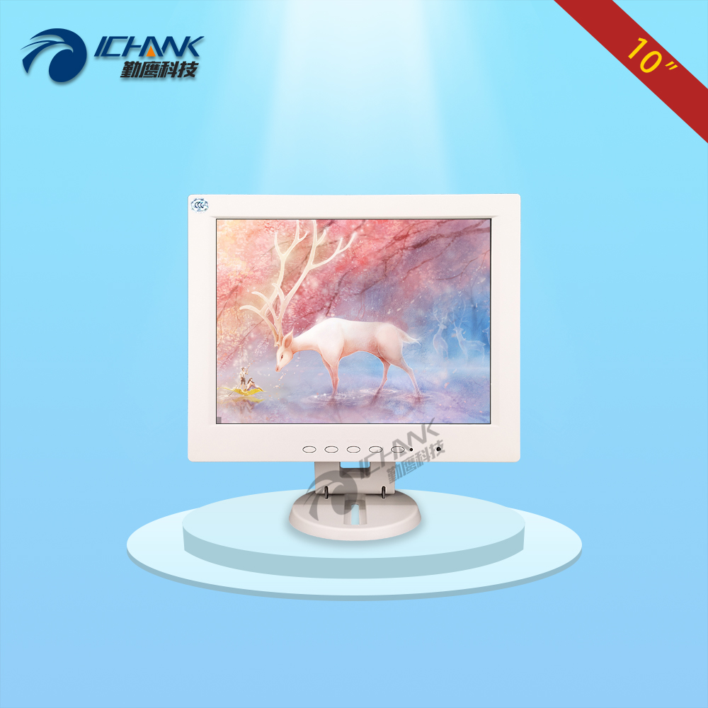 CB100JNV-2W/10 inch 1024x768 4:3 HD VGA Signal Interface Pure White Small Size Space Computer POS Machine Screen Display Monitor 8 4 8 inch industrial control lcd monitor vga dvi interface metal shell open frame non touch screen 800 600 4 3