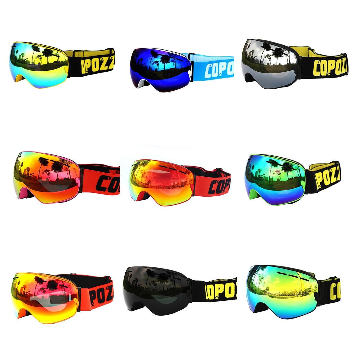 Cycling Bike Eyewear Goggles Ski Goggles Double Layers UV400 Anti-fog Big Ski Mask Glasses Skiing Men Women Snowboard Goggles