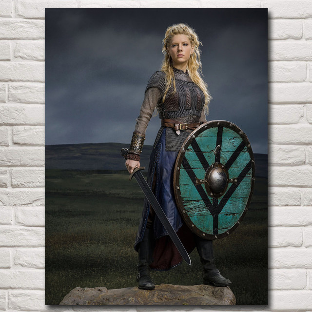 Vikings TV Series Art Silk Fabric Poster Print