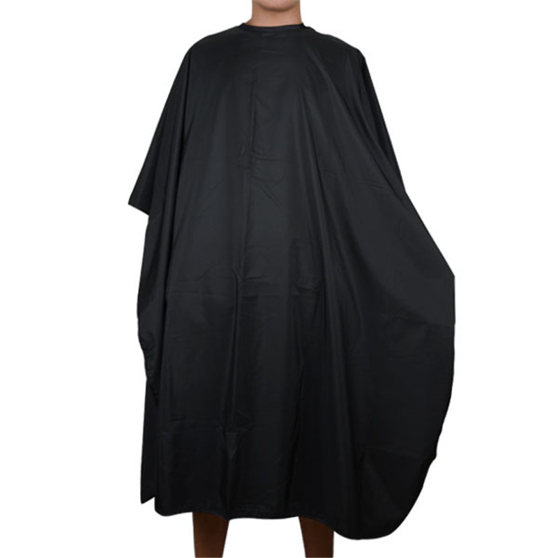 Shellhard 1pc Black Pro Salon Frisør Højkvalitets Hair Cutting Gown Barber Cape Cloth Til Hair Styling Tools