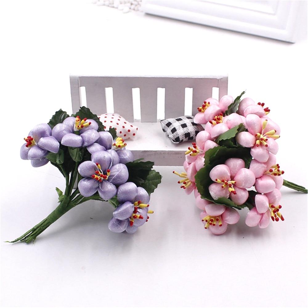 2016 Cheap 35cm 10pcs Silk Artificial Cherry Blossoms Flower