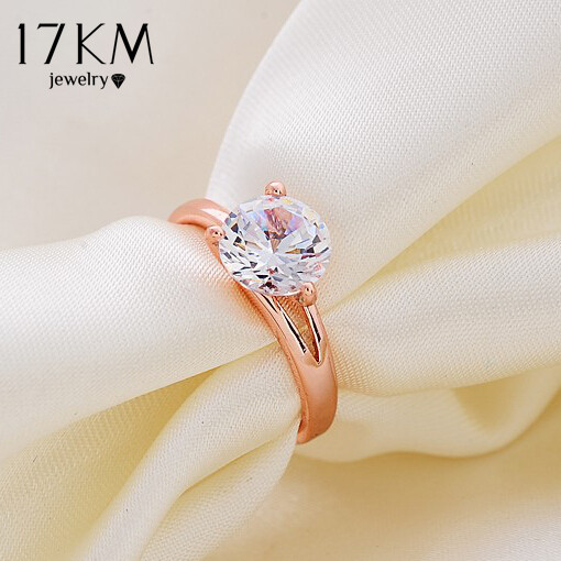 17KM New Fashion Charm High quality rose gold Color Brand designer lady wedding Crystal  ...