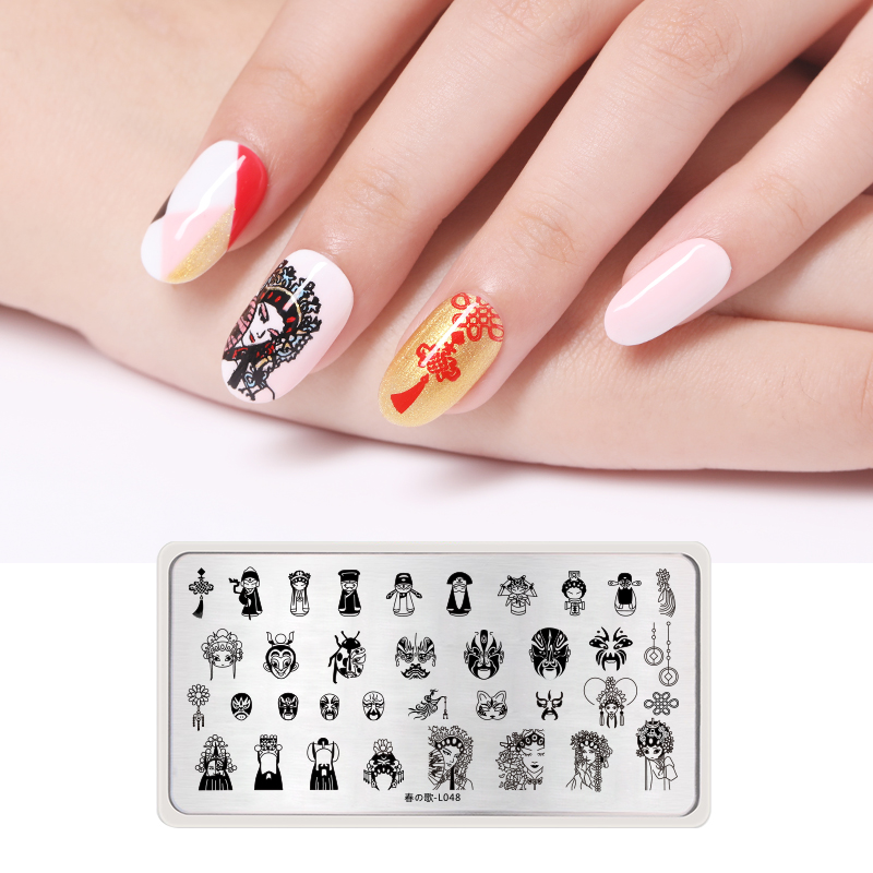 Cheap Price 1pcs Face Emoji Nail Stamping Template Plates Various Expression Image Rectangle Nail Art Stamp Plate Manicure Stencils Tool Top Watermelons Nail Art Nail Art Templates