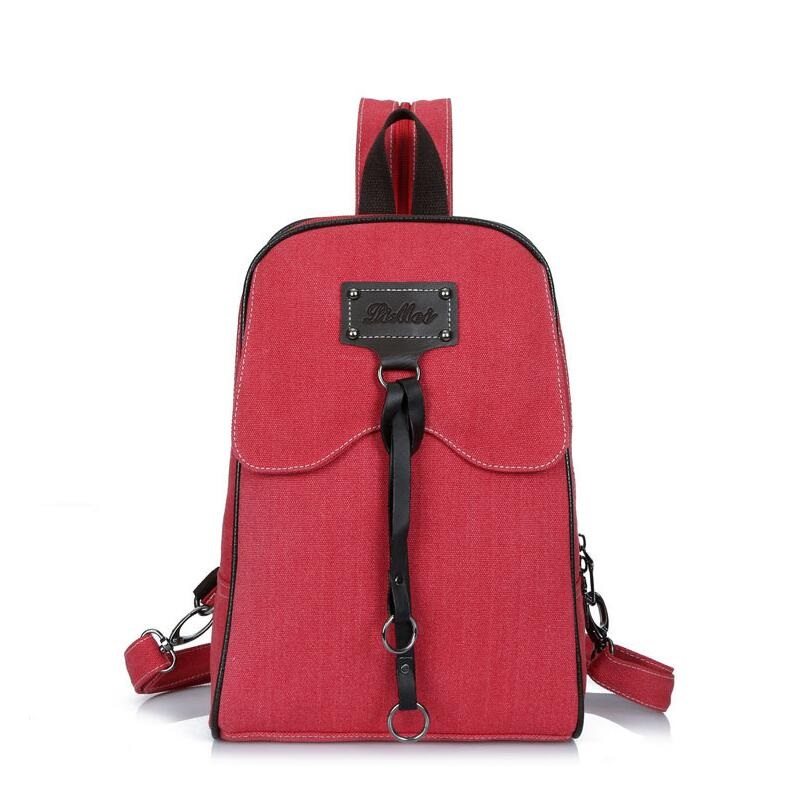 2017 hot sale vintage casual women canvas backpack drawstring bag schoolbag for teenagers girls bagpack knapsack