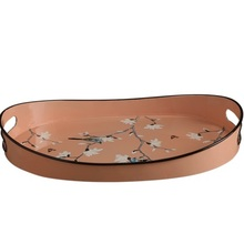 American painted metal wrought iron tray home decoration living room fruit plate tea creative
