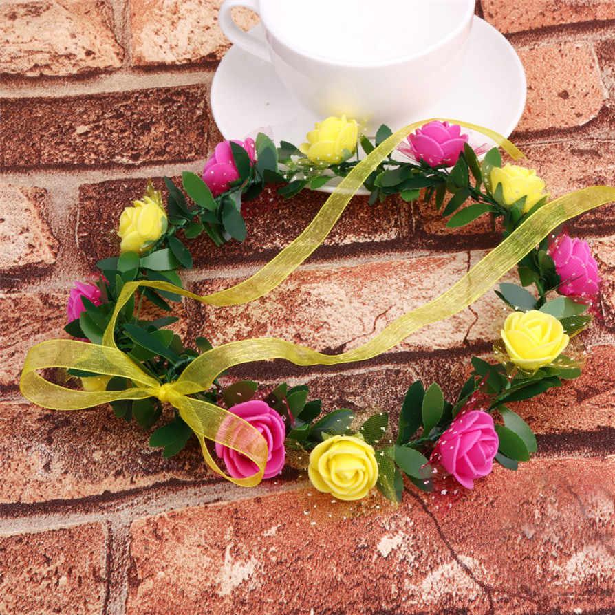 12 colors Hairwear Gussy Life Fashion Women Flower Crown Headband Floral Hairband Festival Wedding Accessories Headdress May3017
